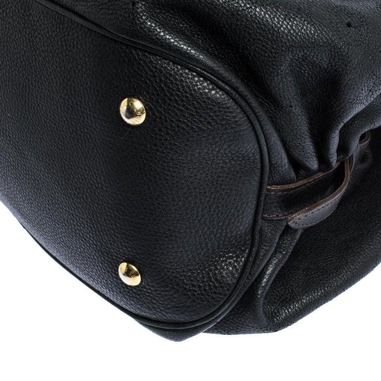 Louis Vuitton Black Monogram Mahina Leather XL Bag For Sale 2
