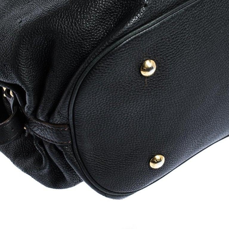 Louis Vuitton Black Monogram Mahina Leather XL Bag For Sale 3