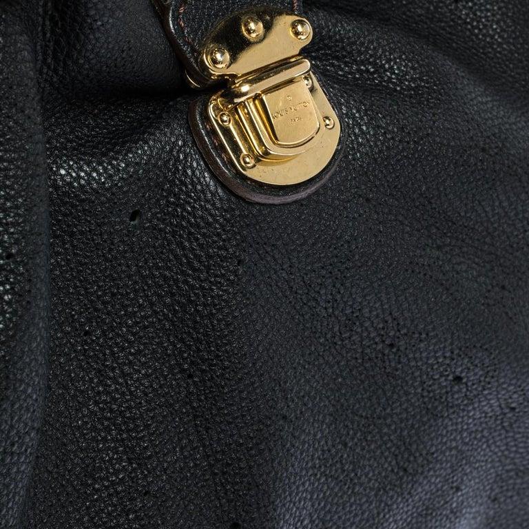 Louis Vuitton Black Monogram Mahina Leather XL Bag For Sale 5
