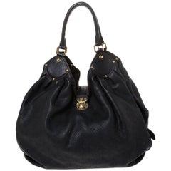 Louis Vuitton Black Monogram Mahina Leather XL Bag