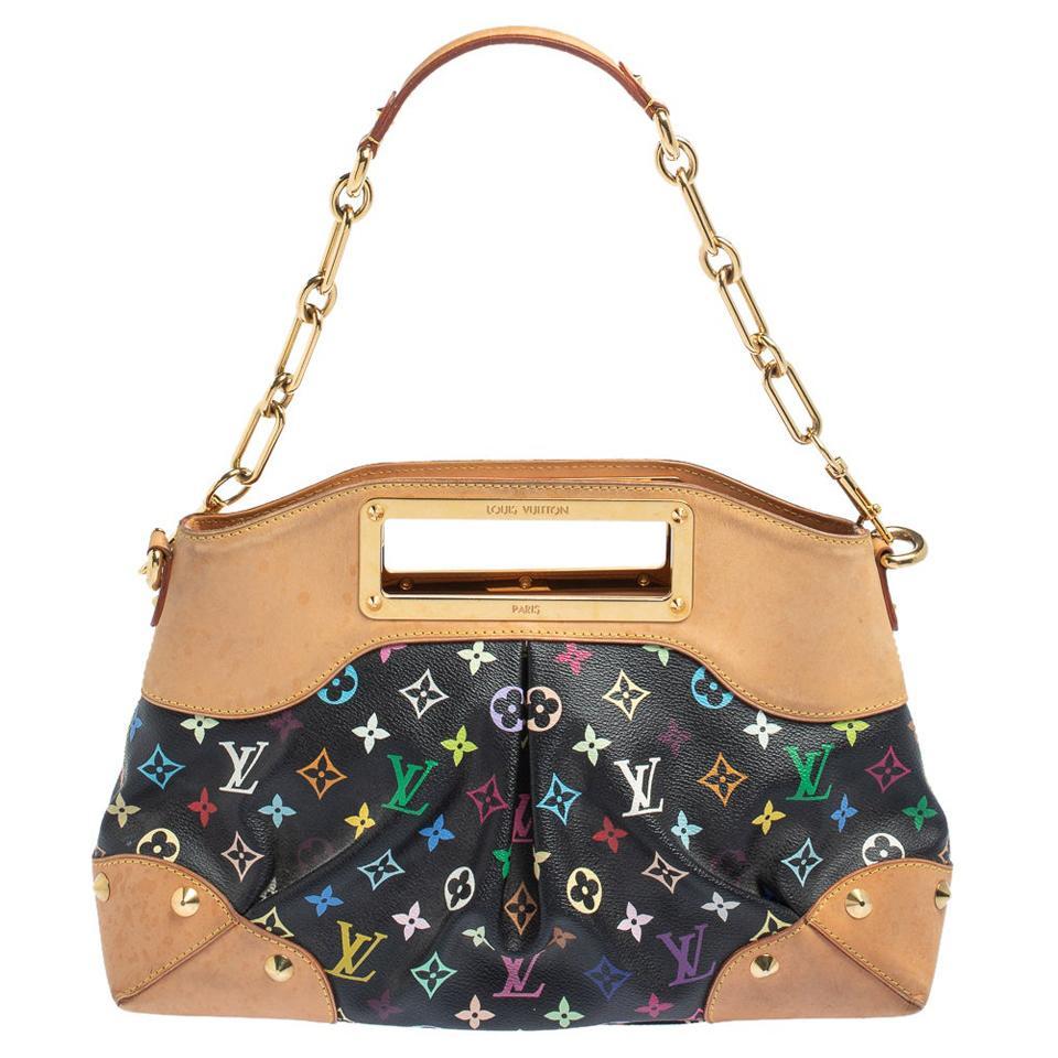 Louis Vuitton Black Monogram Multicolore Canvas Judy MM Bag