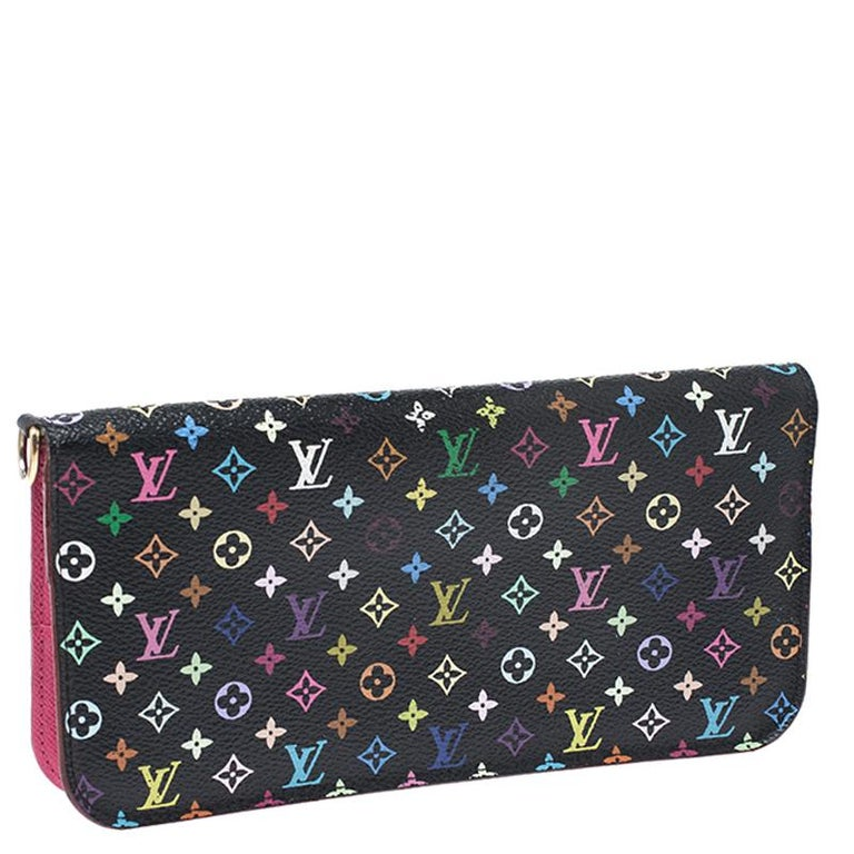 Louis Vuitton Black Monogram Multicolore Insolite Wallet In Good Condition For Sale In Dubai, Al Qouz 2