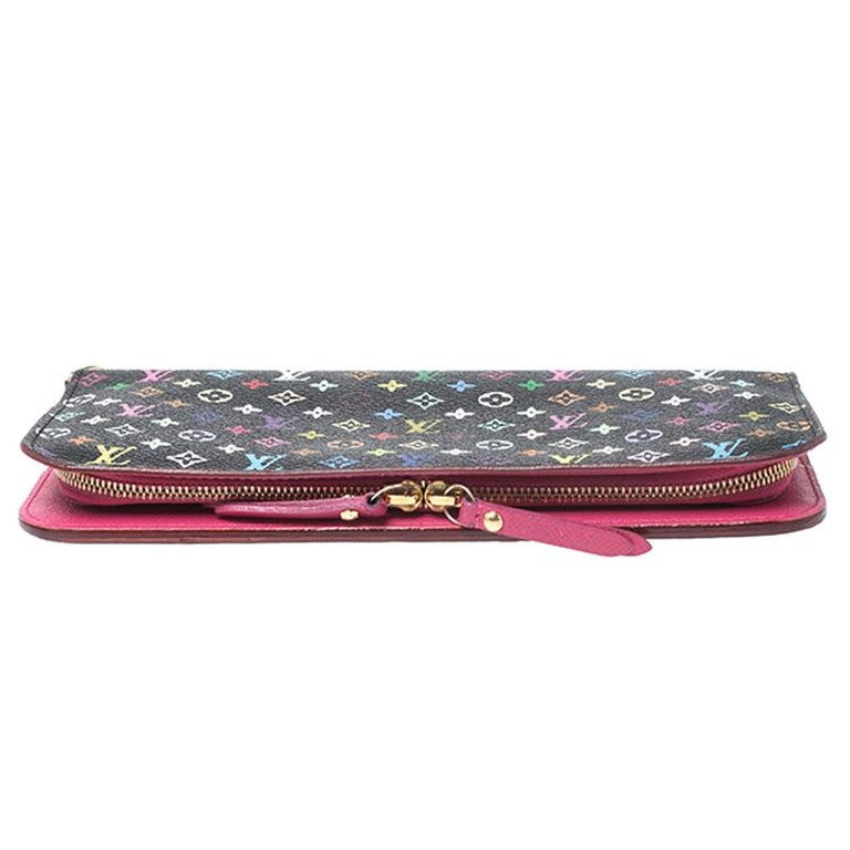 Women's Louis Vuitton Black Monogram Multicolore Insolite Wallet For Sale
