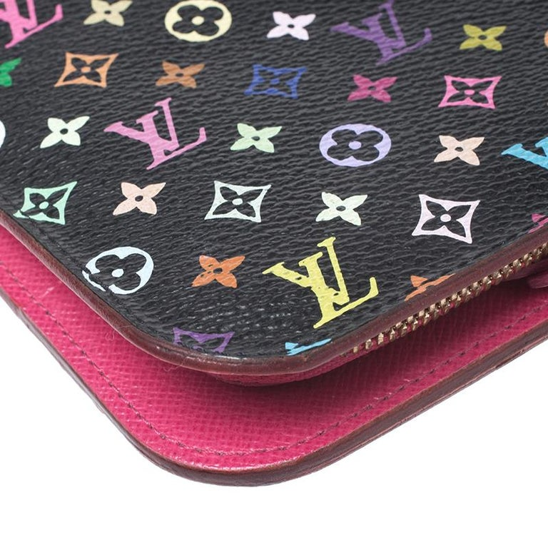 Louis Vuitton Black Monogram Multicolore Insolite Wallet For Sale 4