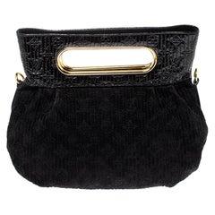 Louis Vuitton Black Monogram Patent And Suede Leather Motard Afterdark Bag