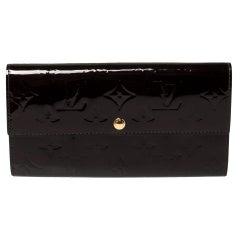 Louis Vuitton Black Monogram Vernis Leather Sarah Wallet