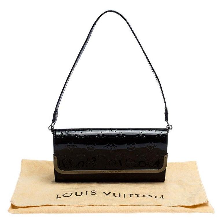Louis Vuitton Black Monogram Vernis Rossmore MM Bag For Sale 7