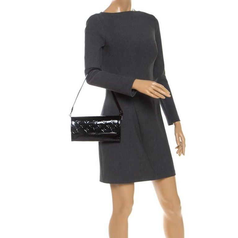 Louis Vuitton Black Monogram Vernis Rossmore MM Bag In Good Condition For Sale In Dubai, Al Qouz 2