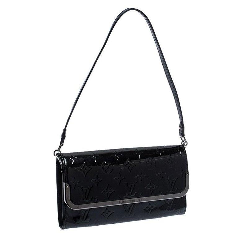 Women's Louis Vuitton Black Monogram Vernis Rossmore MM Bag For Sale