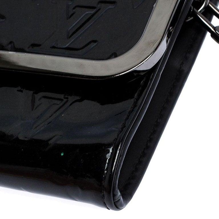 Louis Vuitton Black Monogram Vernis Rossmore MM Bag For Sale 4