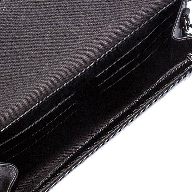 Louis Vuitton Black Monogram Vernis Rossmore MM Bag For Sale 5