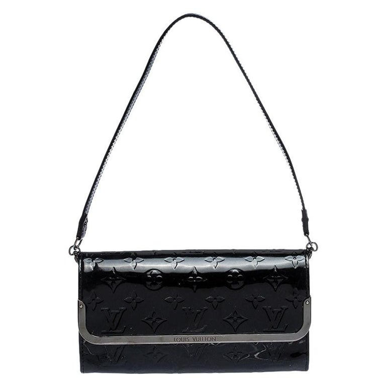 Louis Vuitton Black Monogram Vernis Rossmore MM Bag For Sale