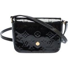 Louis Vuitton Black Monogram Vernis Sac Lucie Bag
