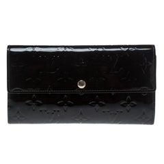 Louis Vuitton Black Monogram Vernis Sarah Continental Wallet