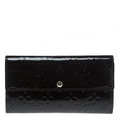 Louis Vuitton Black Monogram Vernis Sarah Continental Wallet