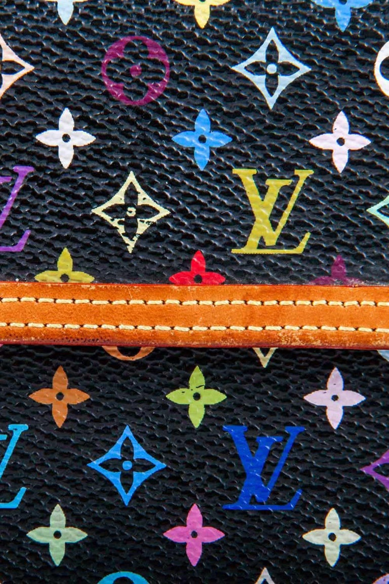 Louis Vuitton Black Multicolor Monogram Canvas Porte Tresor International Wallet For Sale 3
