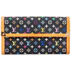 Louis Vuitton Black Multicolor Monogram Canvas Porte Tresor International Wallet