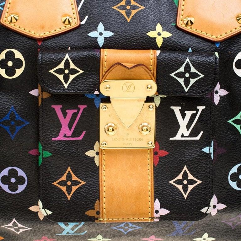 Louis Vuitton Black Multicolor Monogram Canvas Speedy 30 2