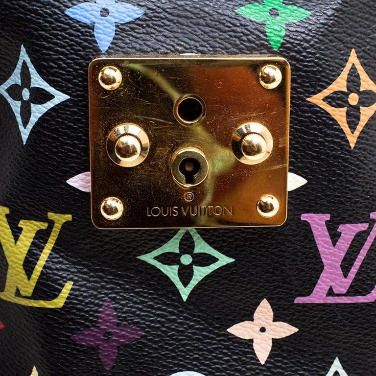 Louis Vuitton Black Multicolor Monogram Canvas Speedy 30 5