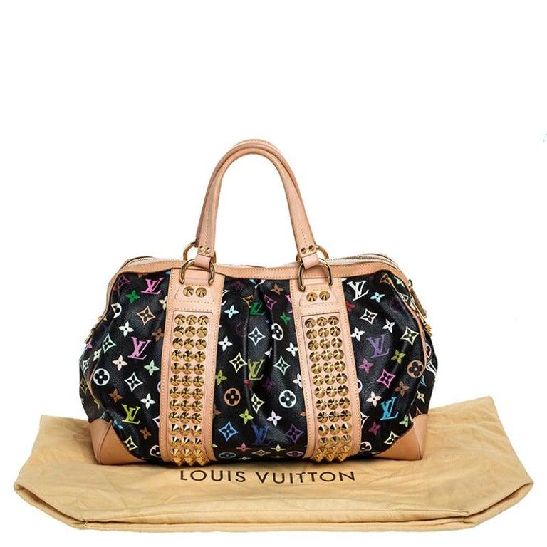 Louis Vuitton Black Multicolore Monogram Canvas Courtney GM Bag For Sale 8