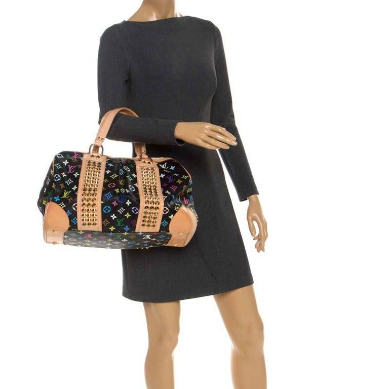 Louis Vuitton Black Multicolore Monogram Canvas Courtney GM Bag In Good Condition For Sale In Dubai, Al Qouz 2