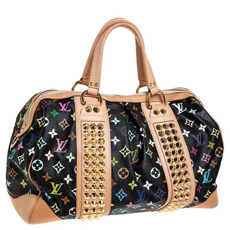 Women's Louis Vuitton Black Multicolore Monogram Canvas Courtney GM Bag For Sale