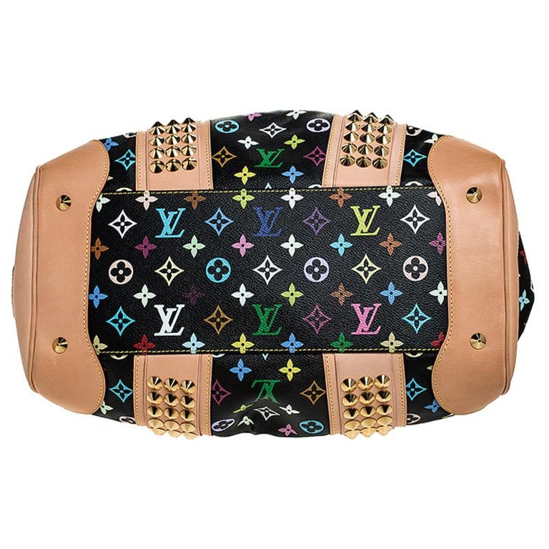 Louis Vuitton Black Multicolore Monogram Canvas Courtney GM Bag For Sale 1