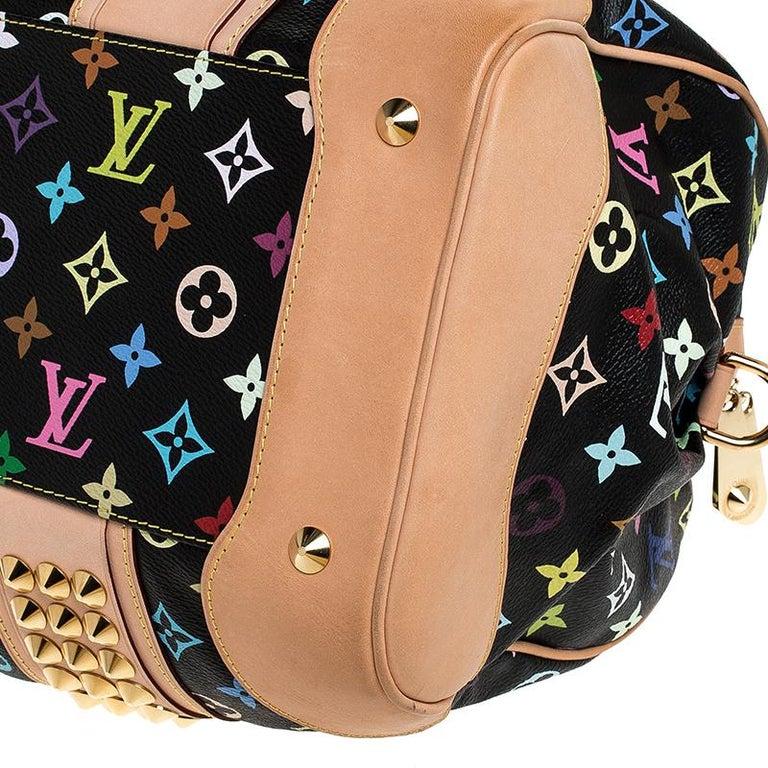 Louis Vuitton Black Multicolore Monogram Canvas Courtney GM Bag For Sale 3