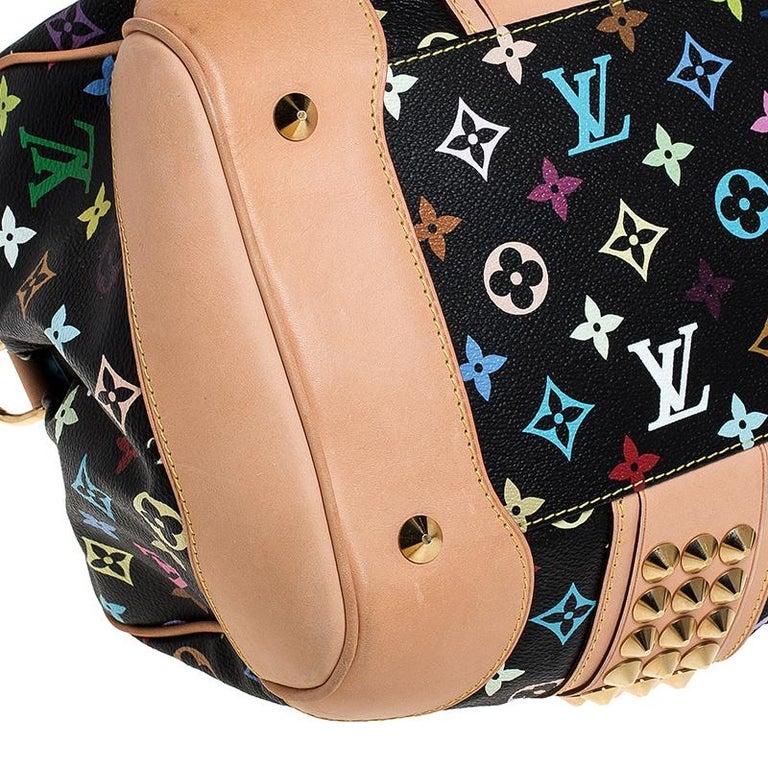 Louis Vuitton Black Multicolore Monogram Canvas Courtney GM Bag For Sale 4