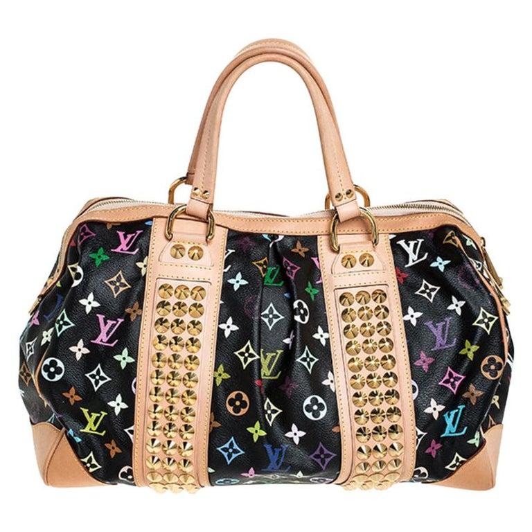 Louis Vuitton Black Multicolore Monogram Canvas Courtney GM Bag For Sale