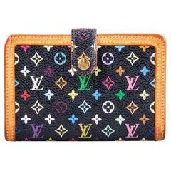 Louis Vuitton Black Multicolore Monogram Canvas French Wallet