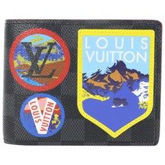 Louis Vuitton Black Multiple Patches Damier Graphite Alpes Story Bifold 11lz1023