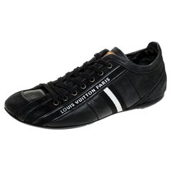 Louis Vuitton Black Nubuck And Leather Cosmos Low Top Sneakers Size 40