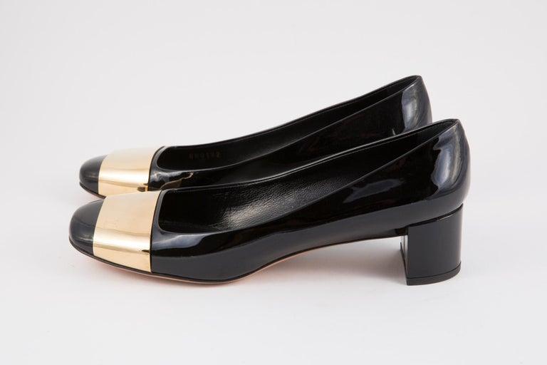 Women's Louis Vuitton Black Patent Leather Logo Pumps Shoes For Sale