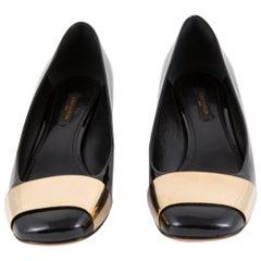 Louis Vuitton Black Patent Leather Logo Pumps Shoes