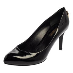 Louis Vuitton Black Patent Leather ''Oh Really'' Pumps Size 36