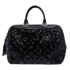 Louis Vuitton Black Sequin Monogram Sunshine Express Speedy 30 Bag
