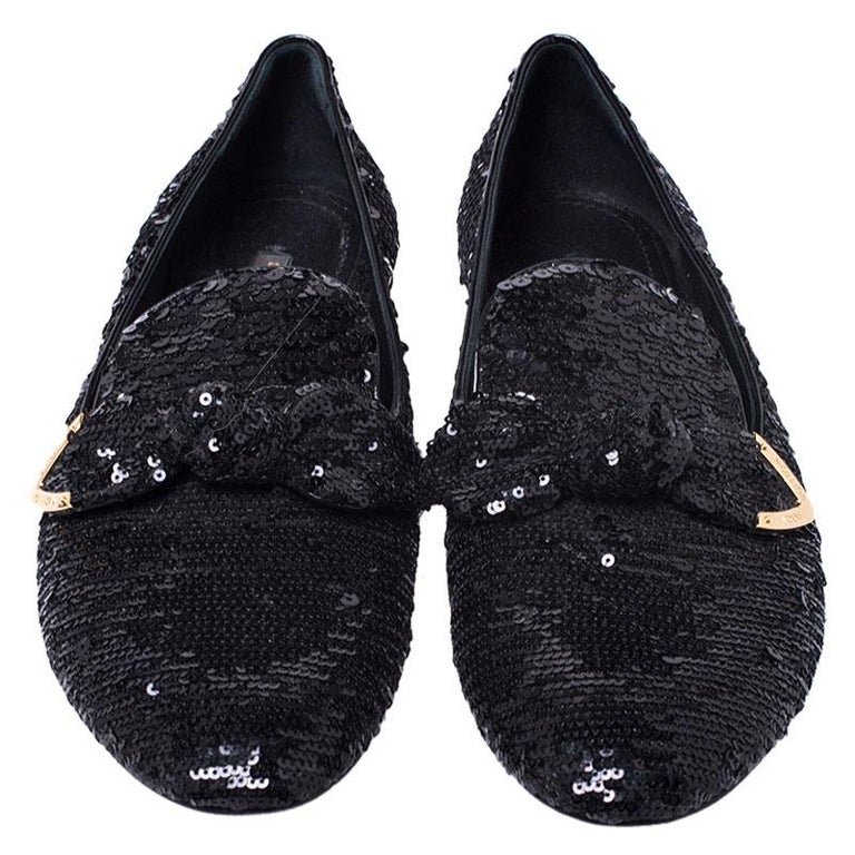 These Louis Vuitton slippers are well-made and oh, so gorgeous! They are covered in sequins, detailed with bows, and lined with leather to provide soft comfort to your feet. They are easy to slip on and they are surely going to add shine to your