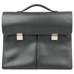 Louis Vuitton Black Serviette Khazan Briefcase