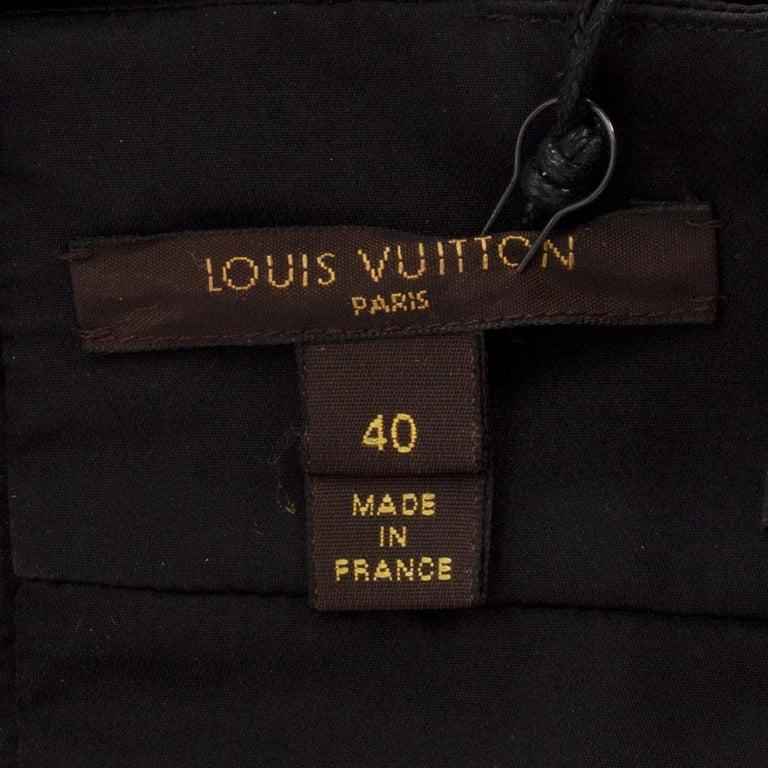 Women's LOUIS VUITTON black silk BOW EMBELLISHED Sleeveless Shirt Top 40 M For Sale