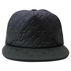 Louis Vuitton Black Ss19 Virgil Abloh Leather Noir Baseball Cap 870231 Hat
