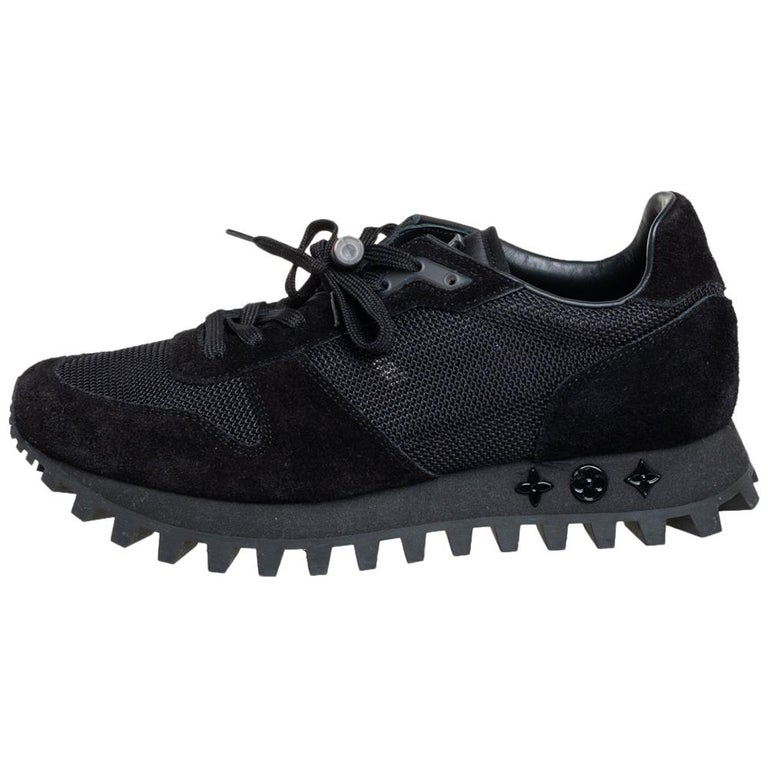 Louis Vuitton Black Suede And Mesh Runner Sneakers Size 41 For Sale