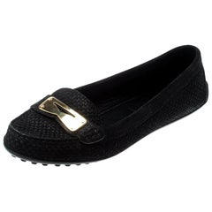 Louis Vuitton Black Suede Penny Loafers Size 39