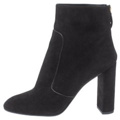 Louis Vuitton Black Suede Podium Ankle Boots Size 41