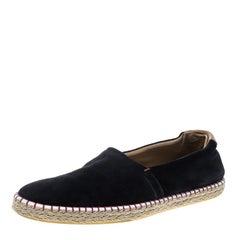 Louis Vuitton Black Suede Slip On Espadrilles Size 45