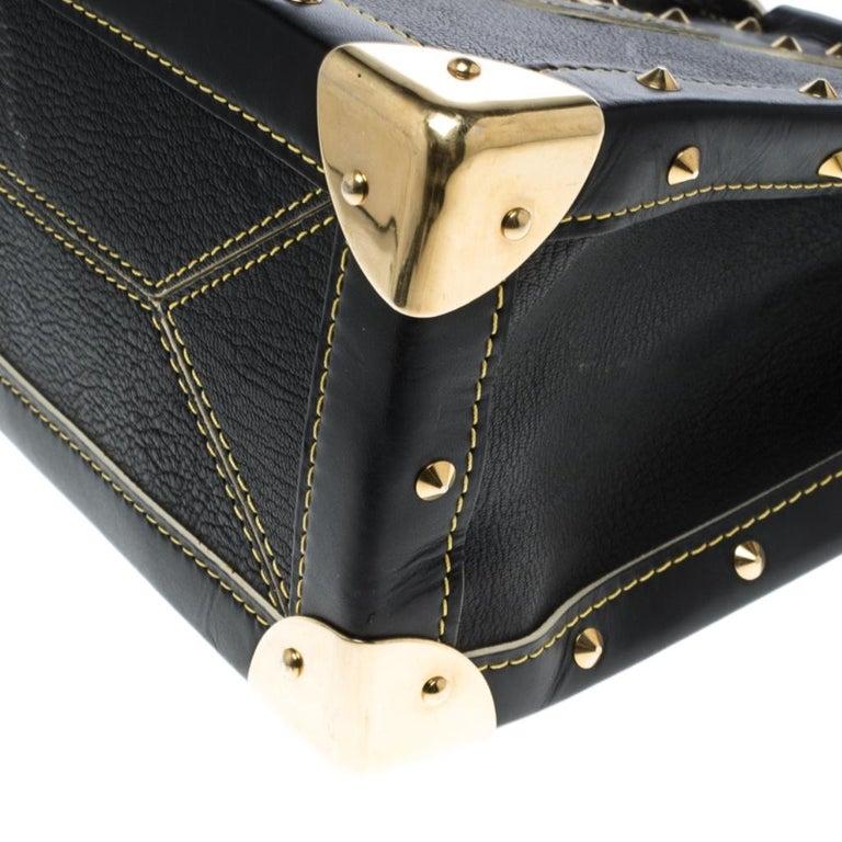 Louis Vuitton Black Suhali Leather Le Fabuleux Bag For Sale 6