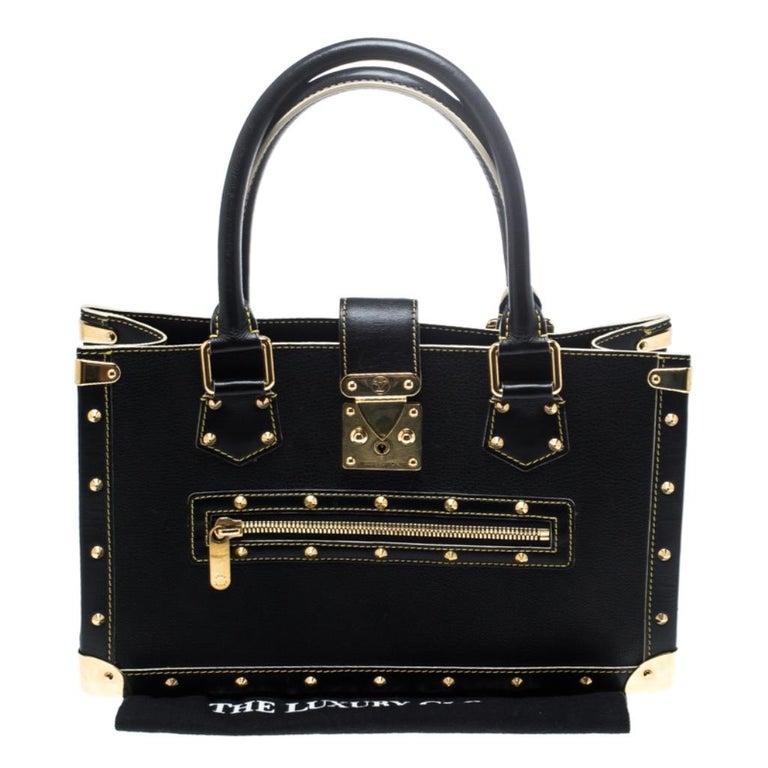 Louis Vuitton Black Suhali Leather Le Fabuleux Bag For Sale 8