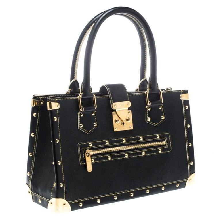 Women's Louis Vuitton Black Suhali Leather Le Fabuleux Bag For Sale