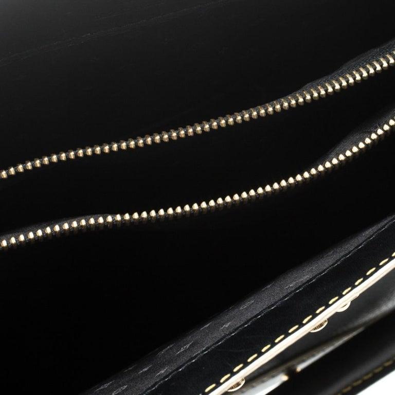 Louis Vuitton Black Suhali Leather Le Fabuleux Bag For Sale 2