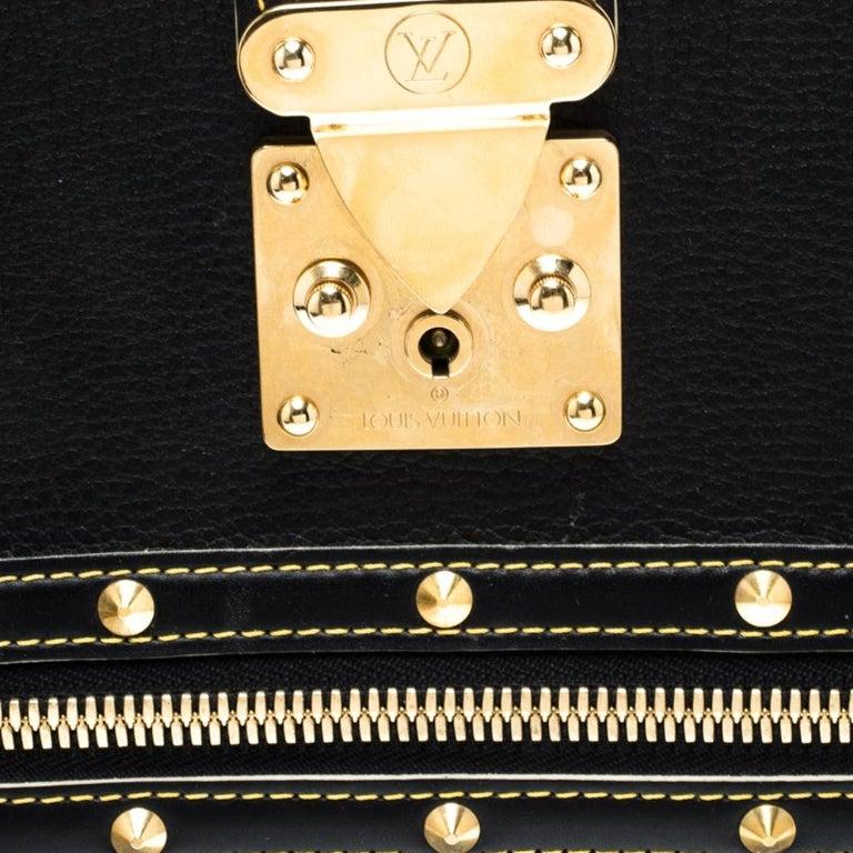 Louis Vuitton Black Suhali Leather Le Fabuleux Bag For Sale 4